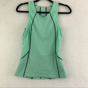 2XU Teal Compression Tank with Two Rear Pockets